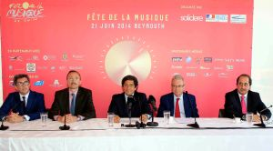 left to right-Mr Boris Richard-HE Victor Mircea-MrMounir Douaidy-HE Patrice Paoli-Mr-Michel de Chadarivian